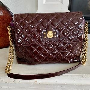 """Marc Jacobs """"The Large Single"""" Oxblood Quilted Bag"""